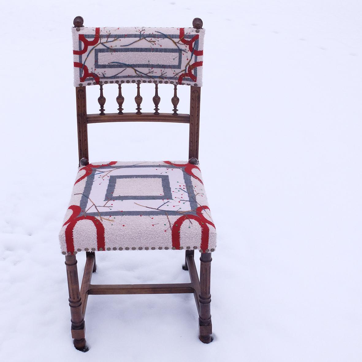 Henriette 1ère, chaise tapisserie