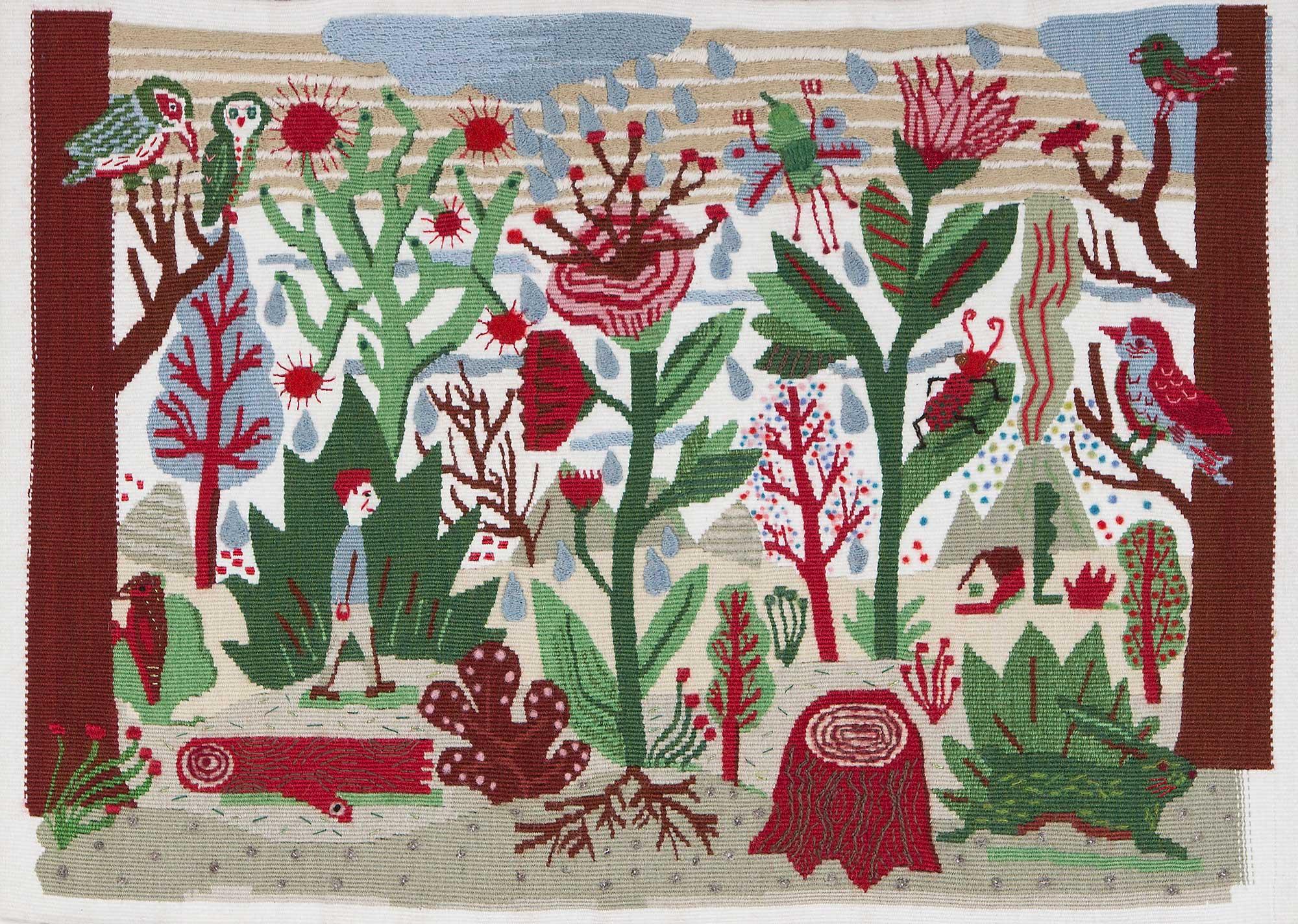 en forêt, tapisserie d'aubusson - Laurent Moreau